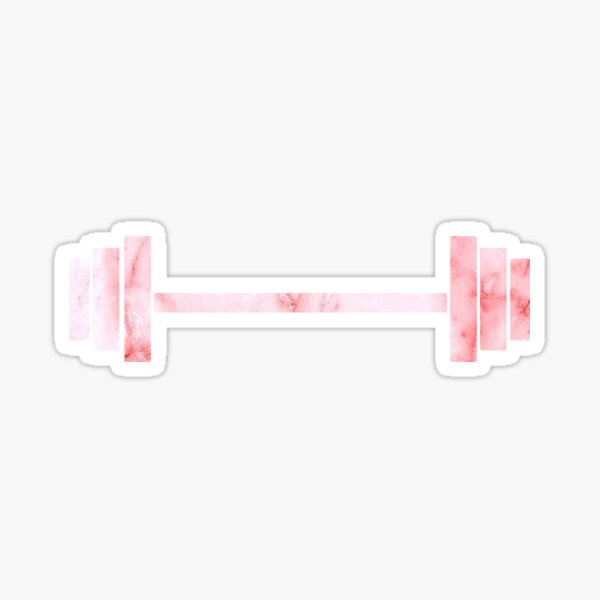 pink marble weight Sticker