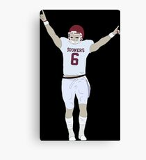 Baker Mayfield Pointing Up Canvas Print