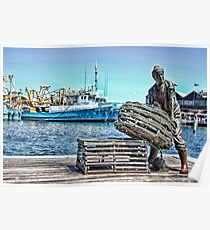 Fishing Boat Harbour Poster