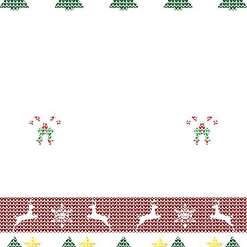 Funny Ugly Christmas Sweater Dog Pooping by Sleazoid