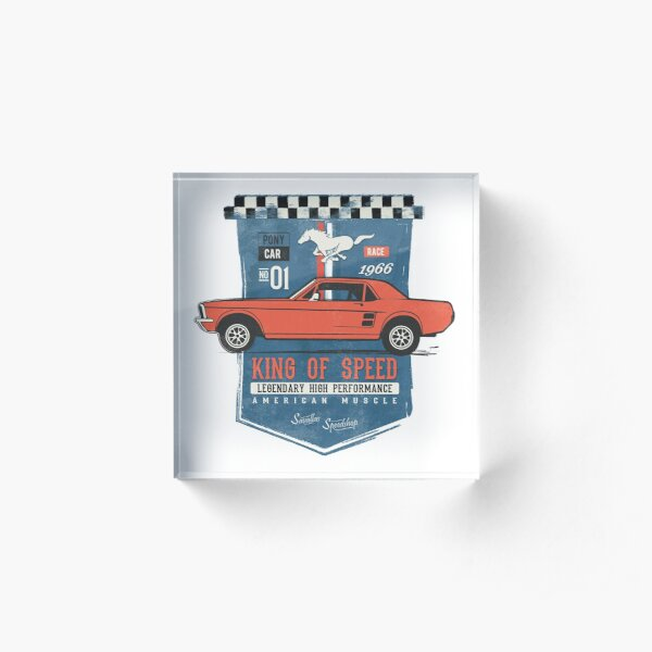 Ford Mustang - King of Speed Acrylic Block