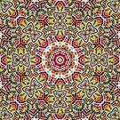 Persian kaleidoscopic Mosaic G508 by MEDUSA GraphicART