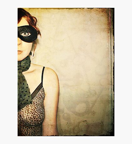 she is a mystery. Photographic Print