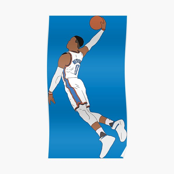 Russell Westbrook Dunk Poster