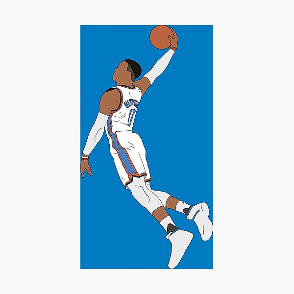 Russell Westbrook Dunk Photographic Print
