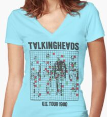 talking heads inspired tour tee Women's Fitted V-Neck T-Shirt