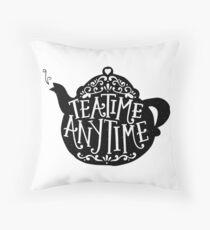 tea time any time Throw Pillow