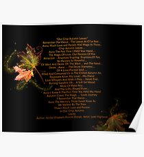 Crisp Autumn Leaves with Lovely Leah Highland Poster