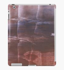 Brown abstract watercolor background iPad Case/Skin