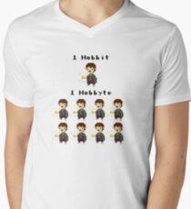 Bit byte pun design :D Men's V-Neck T-Shirt