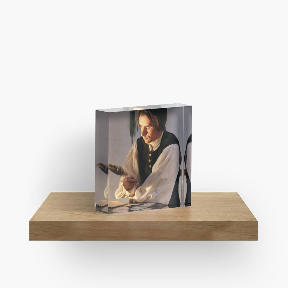 Will Styles Writing Poetry Acrylic Block