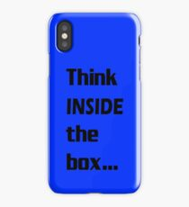 Think INSIDE the box #1 iPhone Case/Skin
