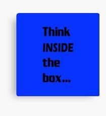 Think INSIDE the box #1 Canvas Print