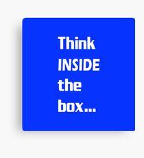 Think INSIDE the box #2 Canvas Print