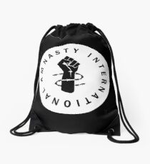AM NASTY INTERNATIONAL - WHITE Drawstring Bag