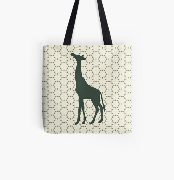 Giraffe in the Woods All Over Print Tote Bag