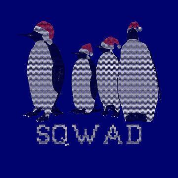 Penguin Sqwad Santa Claus by RosinaSays