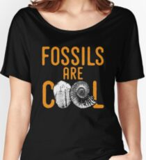 Fossil tshirt saying fossils are cool - ideal paleontology gift idea Women's Relaxed Fit T-Shirt
