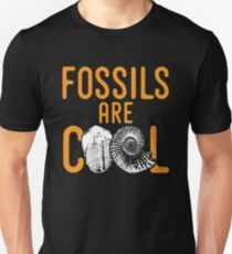 Fossil tshirt saying fossils are cool - ideal paleontology gift idea Unisex T-Shirt
