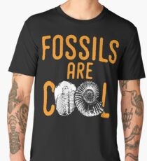 Fossil tshirt saying fossils are cool - ideal paleontology gift idea Men's Premium T-Shirt