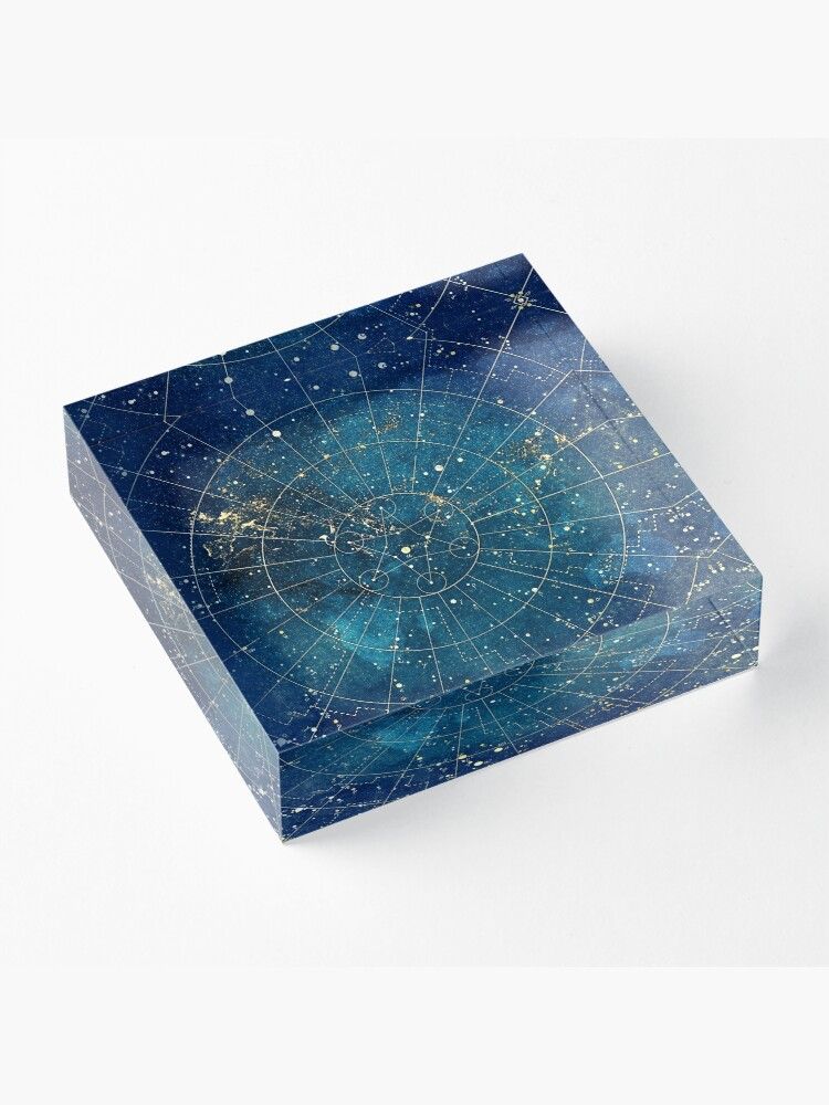 Alternate view of Star Map :: City Lights Acrylic Block