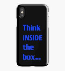 Think INSIDE the box #4 iPhone Case/Skin