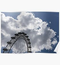 Color Coordinated Skyward View - the London Eye Against Dramatic Sky Poster
