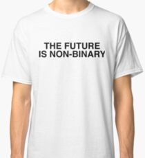 The Future Is Non Binary - Cool Binary Sticker T-Shirt Pillow Classic T-Shirt