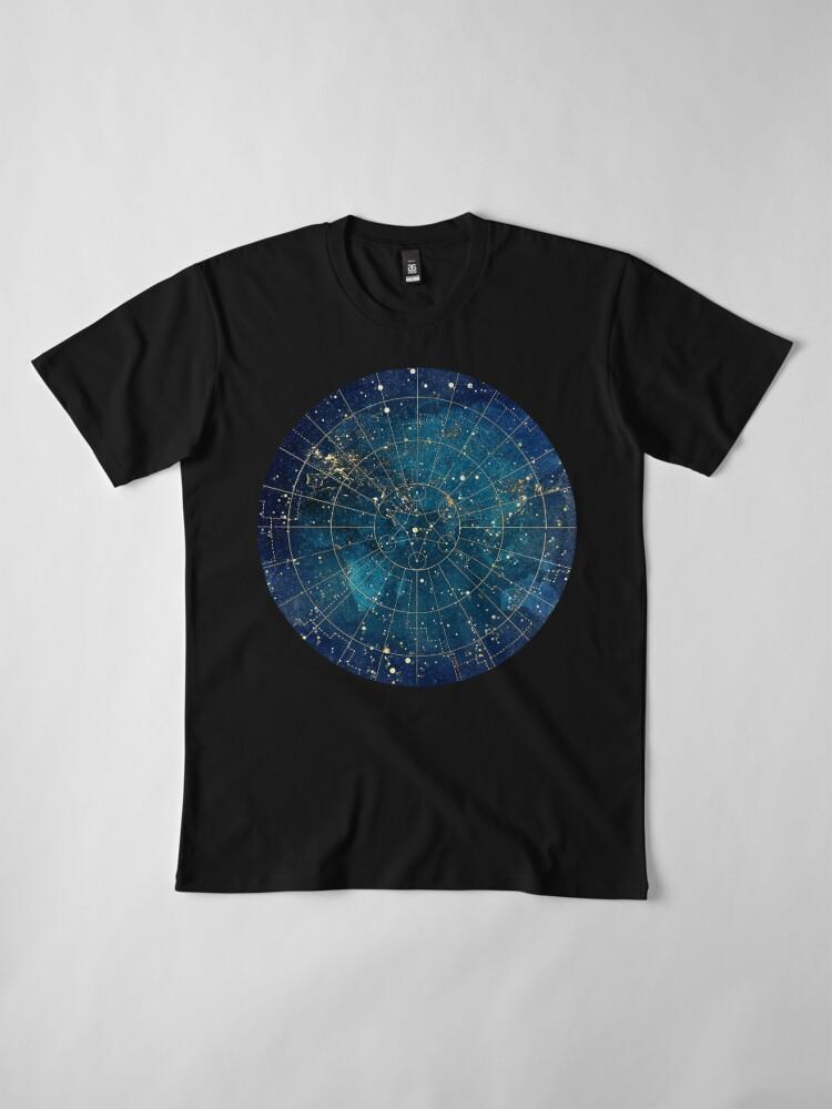 Alternate view of Star Map :: City Lights Premium T-Shirt
