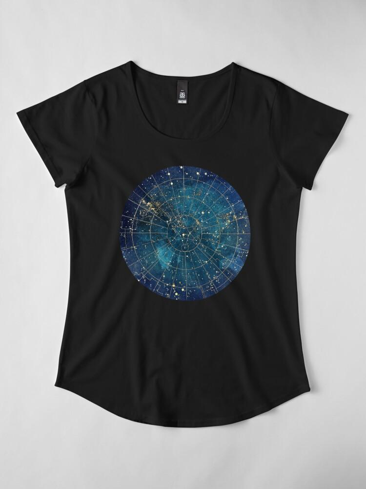 Alternate view of Star Map :: City Lights Premium Scoop T-Shirt