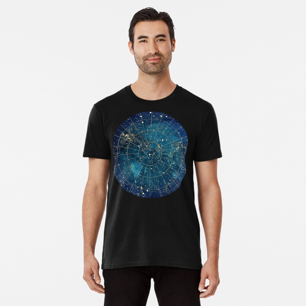 Star Map :: City Lights Premium T-Shirt