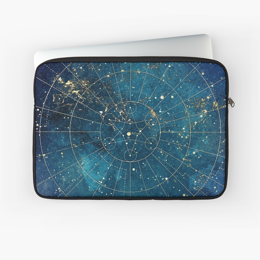 Star Map :: City Lights Laptop Sleeve