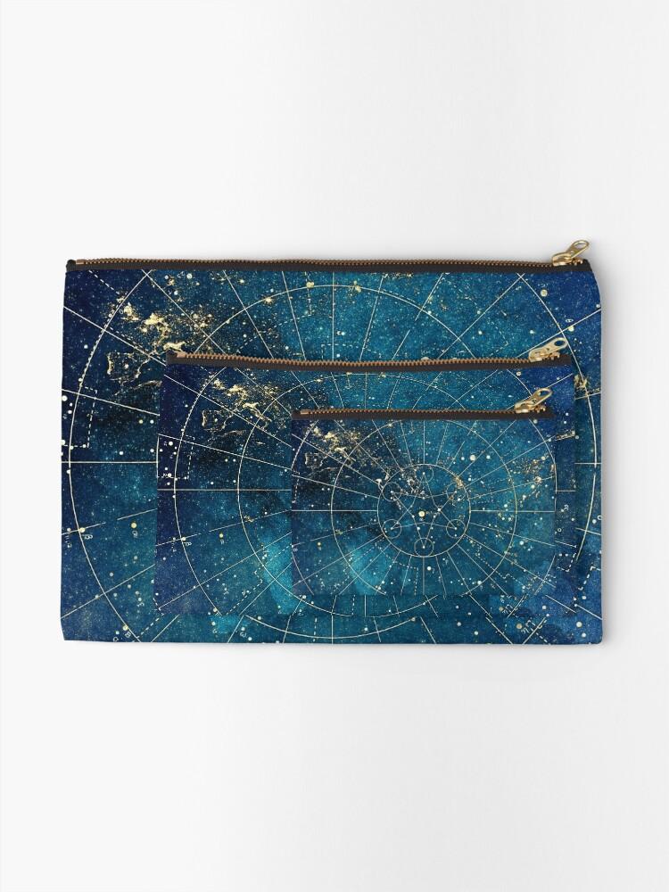 Alternate view of Star Map :: City Lights Zipper Pouch