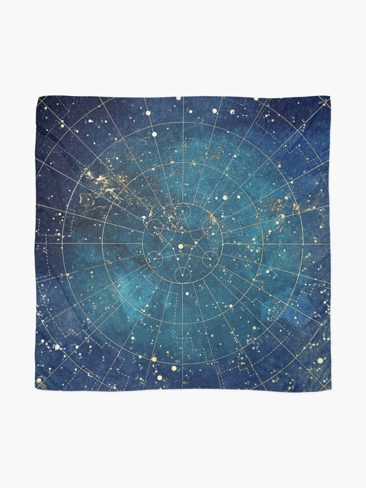 Alternate view of Star Map :: City Lights Scarf