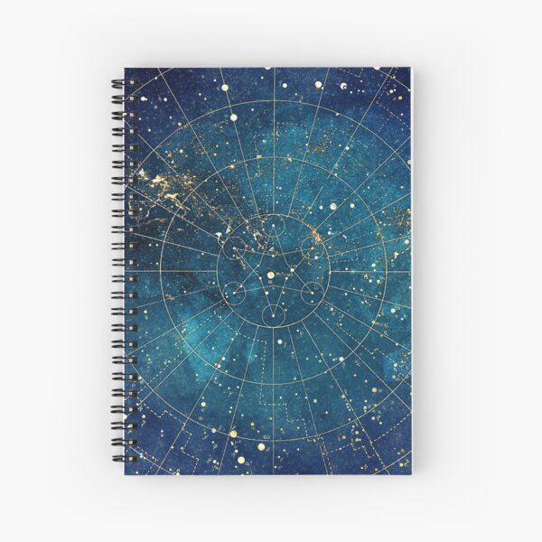 Star Map :: City Lights Spiral Notebook