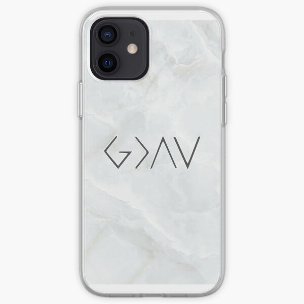 God is Greater Than The Highs and Lows Marble iPhone Soft Case