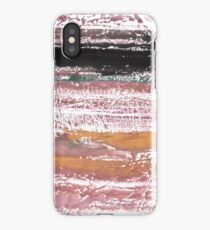 Rosy brown abstract watercolor illustration iPhone Case
