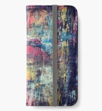Creating - Abstract expressionism iPhone Wallet/Case/Skin