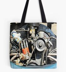 1960 VW Beetle Engine as Art Tote Bag