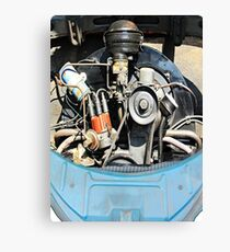 1960 VW Beetle Engine as Art Canvas Print