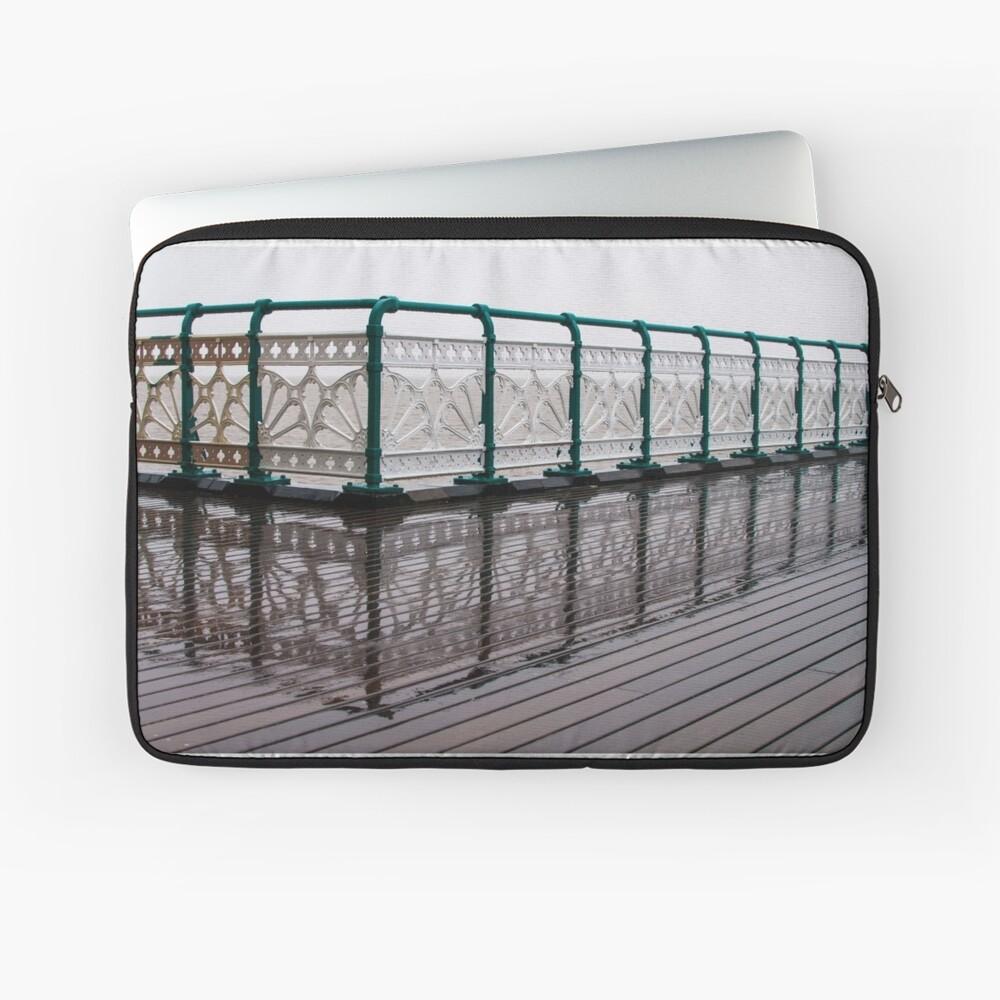 Penarth Pier reflection Laptop Sleeve