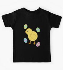 Easter Chick with Easter Eggs Kids Tee