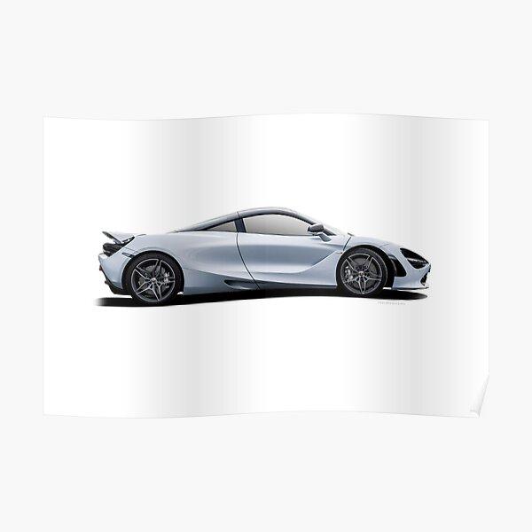 MCLAREN 720S MSO COUPE DUBAI AE100 Poster Print Art A0 A1 A2 A3 CAR POSTER