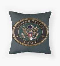 Army Dedication Throw Pillow