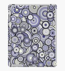 Particle Circles, Blue and Pale Yellow iPad Case/Skin
