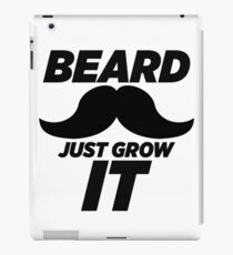 Beard Just Grow It - Funny Nike Parody Sticker T-Shirt Pillow iPad Case/Skin