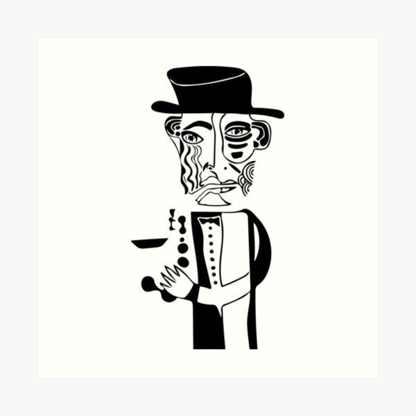 """John """"Trane"""" Coltrane Sketch Art Print"""
