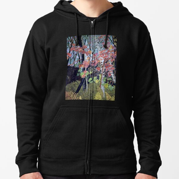 Time for autumn Leaves Zipped Hoodie