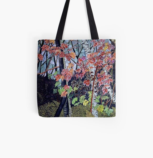 Time for autumn Leaves All Over Print Tote Bag