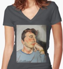 Handsome Cyclops Women's Fitted V-Neck T-Shirt